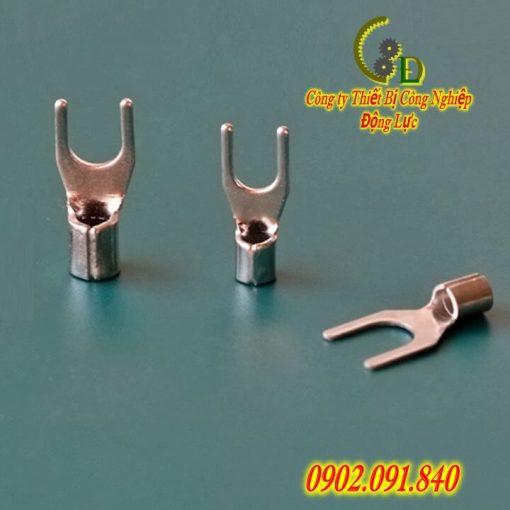 Đầu cos chữ Y trần SNB 2-10 hay còn gọi là đầu cosse chỉa hoặc đầu cốt chẻ bằng đồng mạ thiếc chống gỉ dùng cho dây cáp điện 2mm do công ty động lực sản xuất báo giá tốt nhất