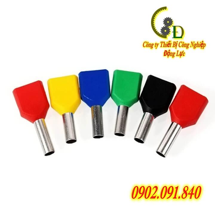 Đầu cosse pin rỗng đôi TE, coss kim, cốt nối dây điện bằng đồng thau mạ thiếc chống gỉ, sản phẩm do công ty Dongluchp sản xuất và phân phối với giá tốt, giao hàng nhanh, uy tín, tiện lợi