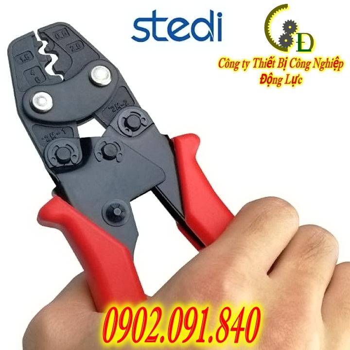 kềm bấm cos stedi hay còn được gọi là kìm bấm coss hoặc kiềm bóp cốt là dụng cụ chuyên dụng trong thi công lắp đặt điện dân dụng và công nghiệp với công dụng bấm đầu cos dây điện với dây cáp điện