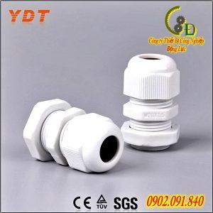 ốc siết cáp nhựa PG 9 mầu trắng dụng cụ kẹp dữ dây cáp điện và chống thấm nước cho tủ điện chế tạo từ nhựa cứng ABS cách điện chịu nhiệt chống ăn mòn oxi hóa