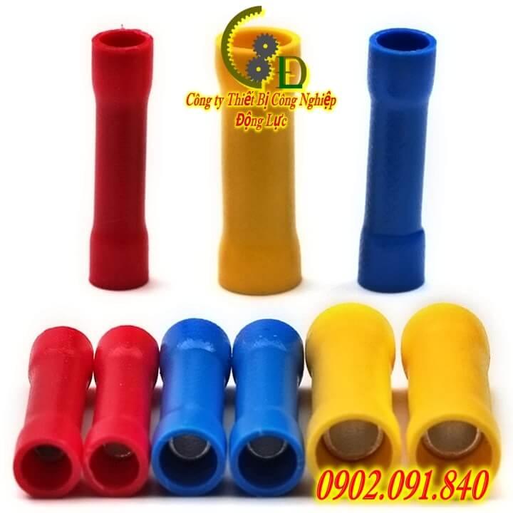 đầu cos nối thẳng bọc nhựa hay thường gọi là cosse nối thẳng chất liệu đồng thau do công ty dongluchp phân phối với giá tốt giao hàng uy tín tiện lợi