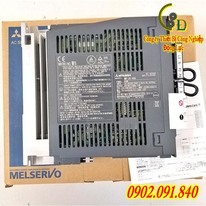 MR-J4-40A AC servo amplifier driver PLC mitsubishi 400W do công ty động lực là nhà phân phối chính thức tại Việt Nam cam kết báo giá tốt nhất trên thị trường hiện nay