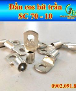 Đầu cos bít SC 70-10, đầu cosse bích, cốt đồng mạ thiếc sản phẩm do công ty động lực sản xuất và phân phối với giá tốt giao hàng nhanh uy tín tiện lợi