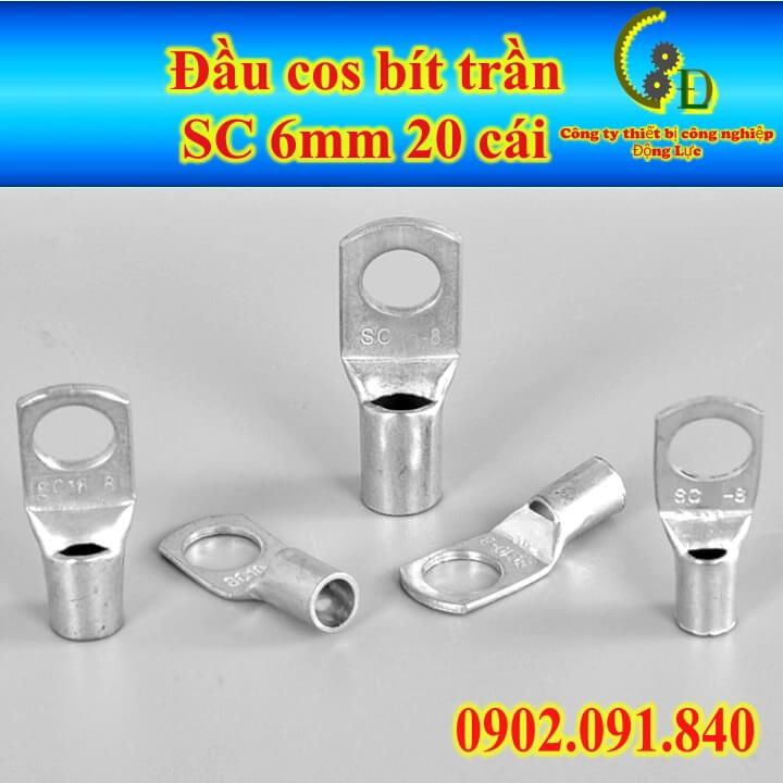 Đầu cos bít trần SC 6-6 đầu cos bít trần SC 6-6 bằng đồng thau mạ thiếc chống gỉ sản phẩm do công ty động lực sản xuất và phân phối với giá tốt nhất